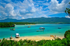 Travel Okinawa. Kabira beach on Ishigaki island,Okinawa Stock Images