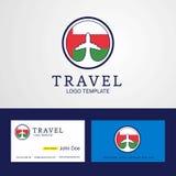 Travel Oman Creative Circle flag Logo and Business card design. This Vector EPS 10 illustration is best for print media, web design, application design user vector illustration