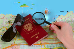 Travel Or Vacation Concept Royalty Free Stock Images