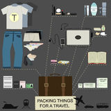 Travel orderliness infographic Stock Image