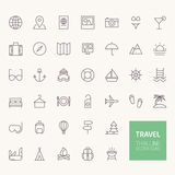 Travel Outline Icons Stock Image