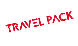 Travel Pack rubber stamp Royalty Free Stock Photo