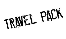 Travel Pack rubber stamp Stock Image