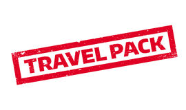 Travel Pack rubber stamp Stock Photography