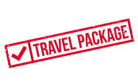 Travel Package rubber stamp Stock Image