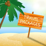 Travel Packages Indicates Go On Leave And Arranged. Travel Packages Meaning Go On Leave And Tour Operator Royalty Free Stock Images