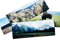 Travel Panorama Photos. Panorama photos from a trip to the Rocky Mountains Stock Images