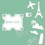 Travel paper background Royalty Free Stock Image