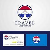 Travel Paraguay Creative Circle flag Logo and Business card design. This Vector EPS 10 illustration is best for print media, web design, application design vector illustration