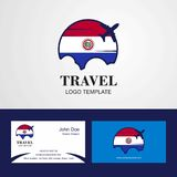 Travel Paraguay Flag Logo and Visiting Card Design. This Vector EPS 10 illustration is best for print media, web design, application design user interface and vector illustration