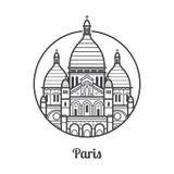 Travel Paris Icon Royalty Free Stock Image