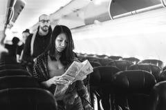 Travel Passenger Aeroplane Transportation Concept Stock Images