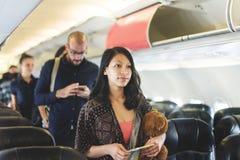 Travel Passenger Aeroplane Transportation Concept Stock Photography