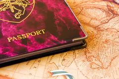 Travel Passport. Background possible to use for printing and project Royalty Free Stock Photo