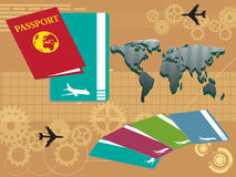 Travel with passport Royalty Free Stock Image