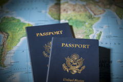 Travel passports Stock Photos