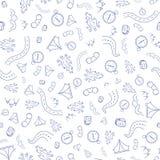 Travel Pattern, Hand Draw Illustration Stock Photos