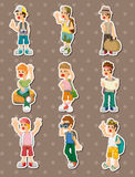 Travel people stickers Stock Photos