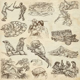 Travel - Philippines. Full sized hand drawings on white Stock Image