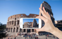 Travel photo of the Colosseum Stock Image