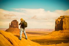 Travel Photographer at Work royalty free stock photography