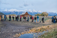 Travel photography in Grand Teton stock photography