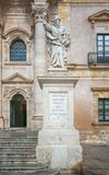 Travel Photography from Syracuse, Italy on the island of Sicily. Cathedral Plaza. Royalty Free Stock Images