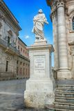 Travel Photography from Syracuse, Italy on the island of Sicily. Cathedral Plaza. Royalty Free Stock Photo