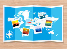 Travel photos with camera Royalty Free Stock Photography