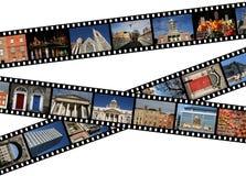 Travel photos - Dublin. Film strips with travel photos. Dublin, Ireland, Europe Stock Image