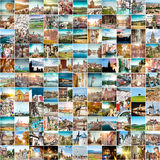 Travel photos from  Europe. Collage of travel photos from different cities of the Europe Royalty Free Stock Photography