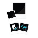 Travel picture frame in black color illustration Royalty Free Stock Image