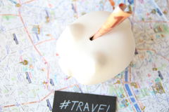 Travel Piggy Bank Royalty Free Stock Image
