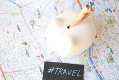 Travel Piggy Bank Stock Images