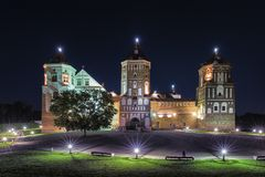 Torist Destinations. Picture of Renowned Mir Castle. Travel Places and Torist Destinations. Picture of Renowned Mir Castle as Former Bastion and Fortress of The Royalty Free Stock Photography