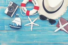 Travel Plan Trip. Top view Traveler planning trip stock image