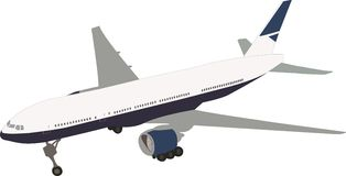 Travel plane. Vector of the standing plane Stock Photo