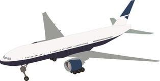 Travel plane. Vector of the standing plane stock illustration