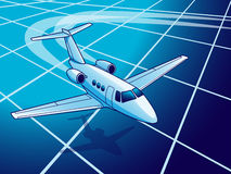 Travel By The Plane. Vector illustration of global travel by the plane Royalty Free Stock Photo