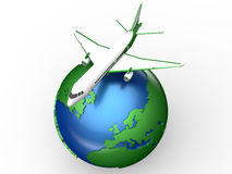 Travel by plane concept Stock Photography