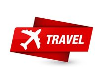 Travel (plane icon) premium red tag sign. Travel (plane icon) isolated on premium red tag sign abstract illustration royalty free illustration