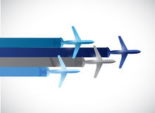 Travel plane illustration design Stock Photos