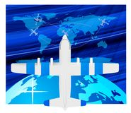 Travel plane on map Royalty Free Stock Photography