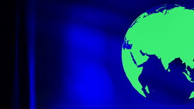 Travel planet earth. Green rotating eco world globe blue abstract motion background stock video