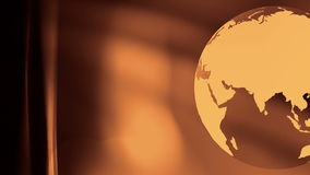 Travel planet gold abstract background. Rotating world globe abstract motion background stock video