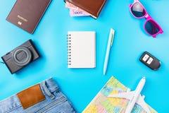 Travel Planning accessories, Airplane, wallet,sun glasses, money
