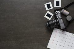 Travel planning on black background Stock Images