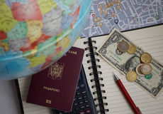 Travel planning and budgeting Royalty Free Stock Photography