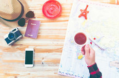 Travel planning concept Royalty Free Stock Photography
