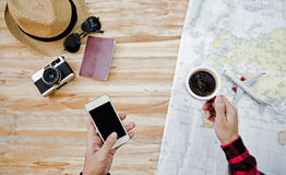 Travel planning concept Royalty Free Stock Photos